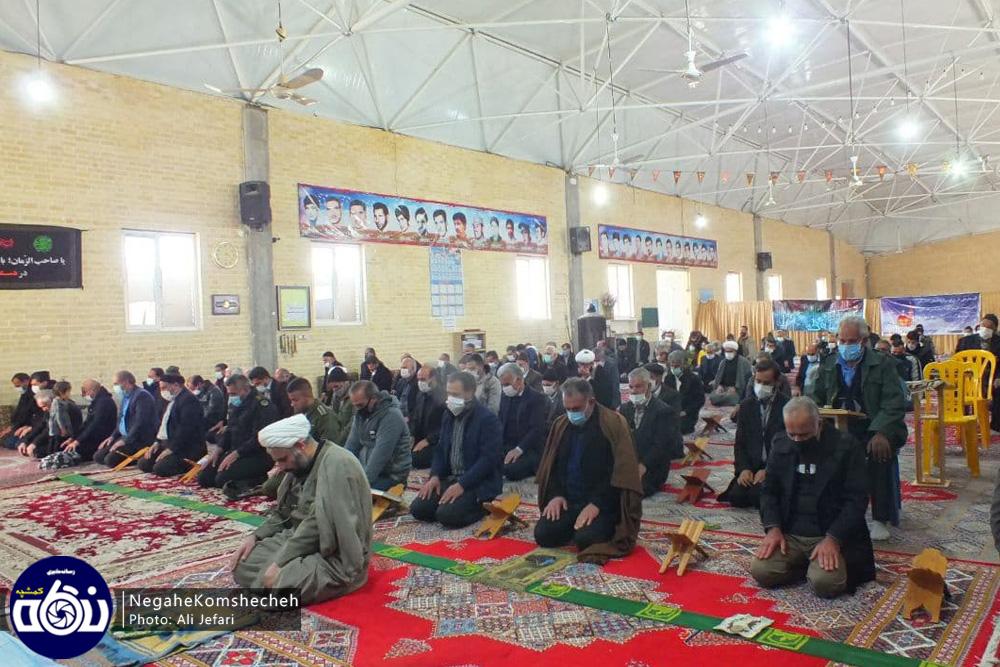 نماز عبادی سیاسی جمعه این هفته در شهر کمشچه + تصاویر