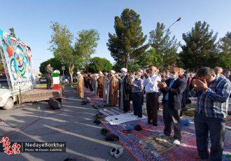 نماز عید سعید فطر در شهر خورزوق اقامه شد + تصاویر