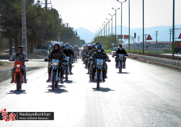 تصاویر   رژه موتوری بسیجیان برخوار به مناسبت هفته دفاع مقدس