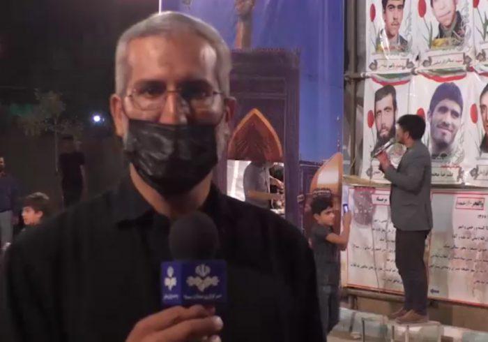 عزاداری سنتی چهارپایه خوانی در دولت آباد برخوار